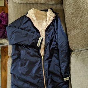 Jackets & Blazers - Sherpa lined zip coat